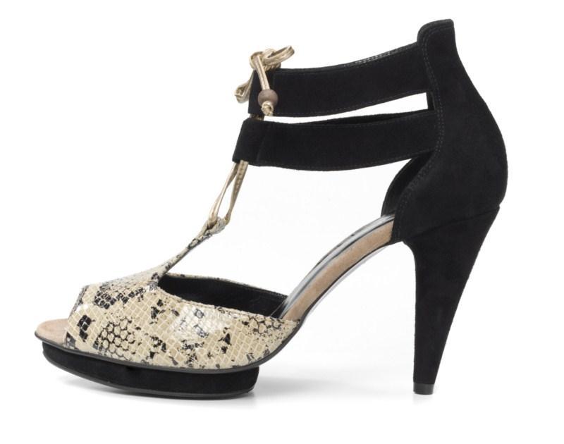 czarne sandałki Ryłko na wysokim obcasie - kolekcja letnia