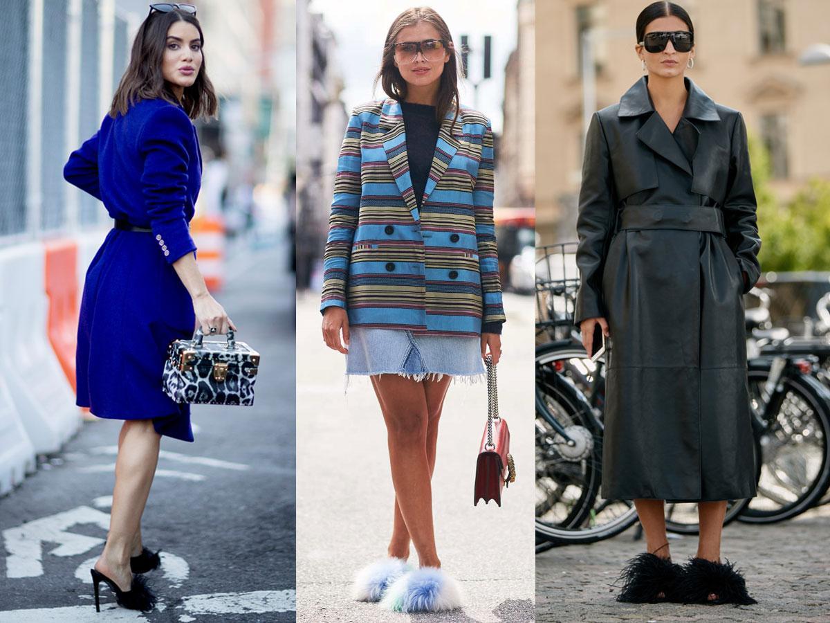Klapki z futerkiem na lato 2019: trendy, stylizacje, przegląd modeli