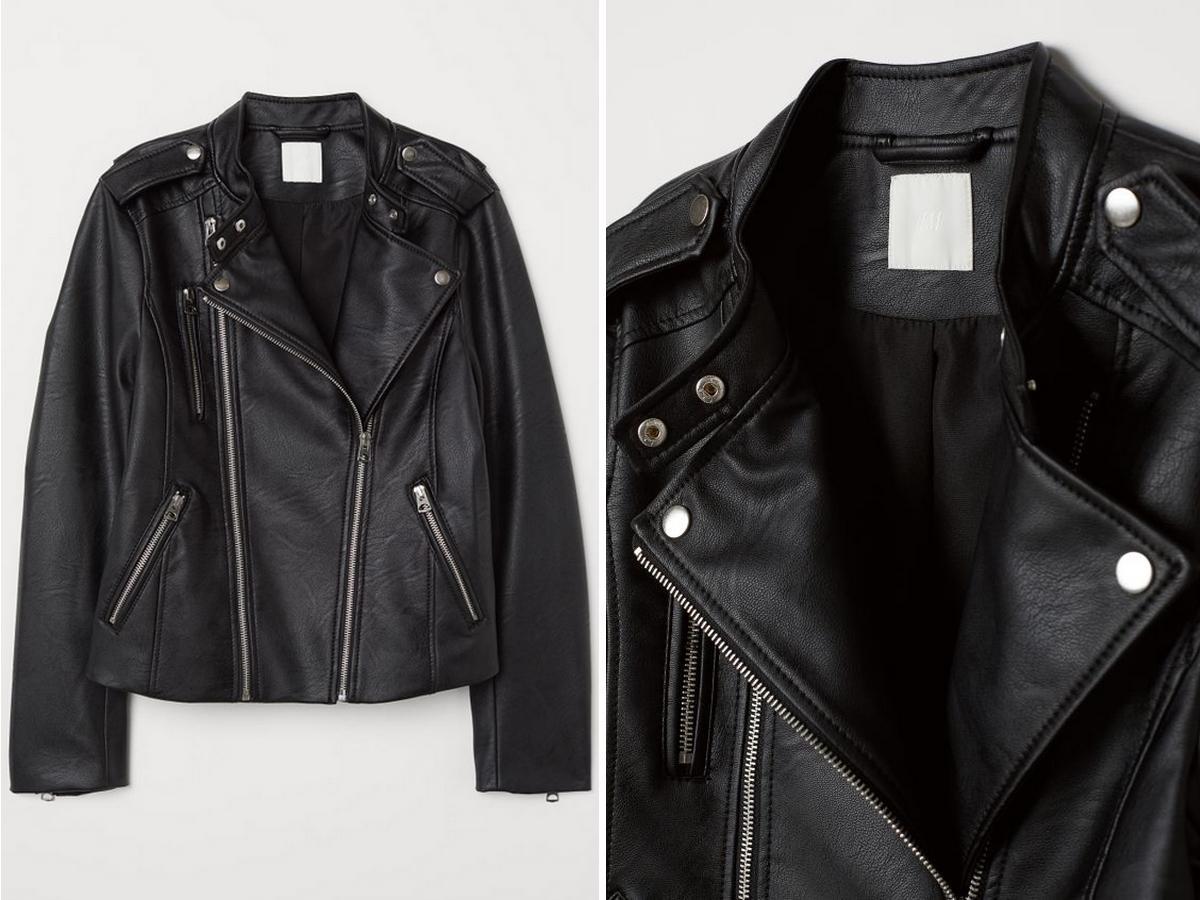 czarna ramoneska z H&M