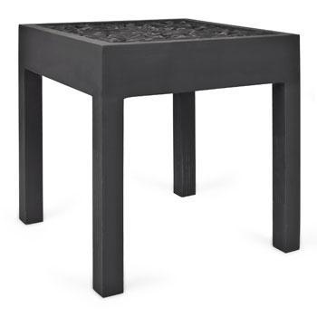Modny masywny stolik w kolorze czerni  - Zara Home