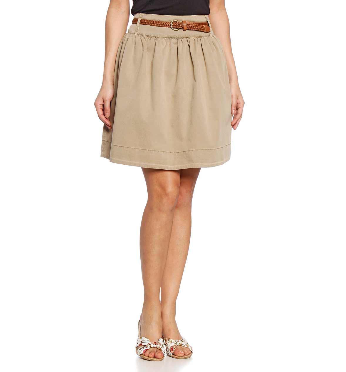 beżowa spódnica C&A midi - moda na wiosnę i lato 2013