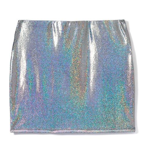 Metaliczna spódnica mini, Sinsay