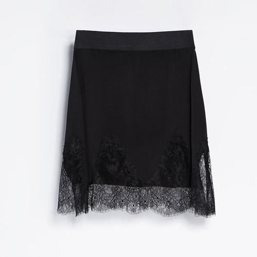 Spódnica mini w bieliźnianym stylu, Zara