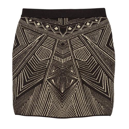 Dzianinowa spódnica mini, H&M