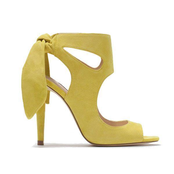 Sandałki na obcasie Zara, cena