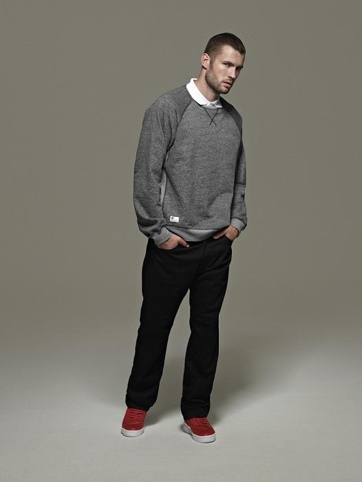 popielaty sweter Adidas - wiosenna kolekcja