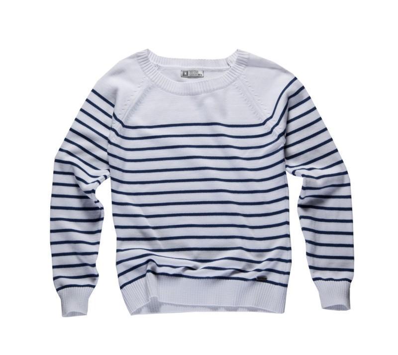 biała bluzka Big Star w paski - wiosna/lato 2011