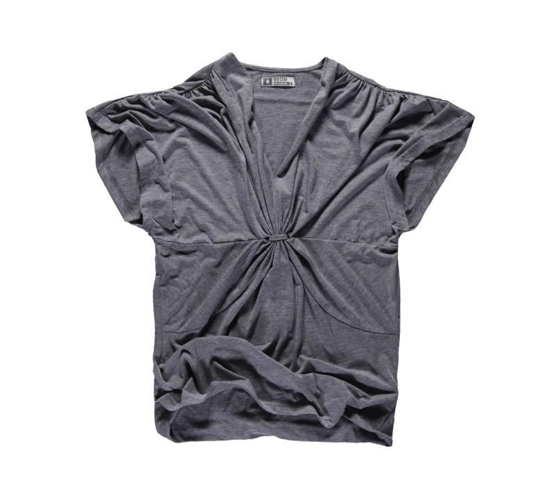 popielata bluzka Big Star - trendy wiosna-lato