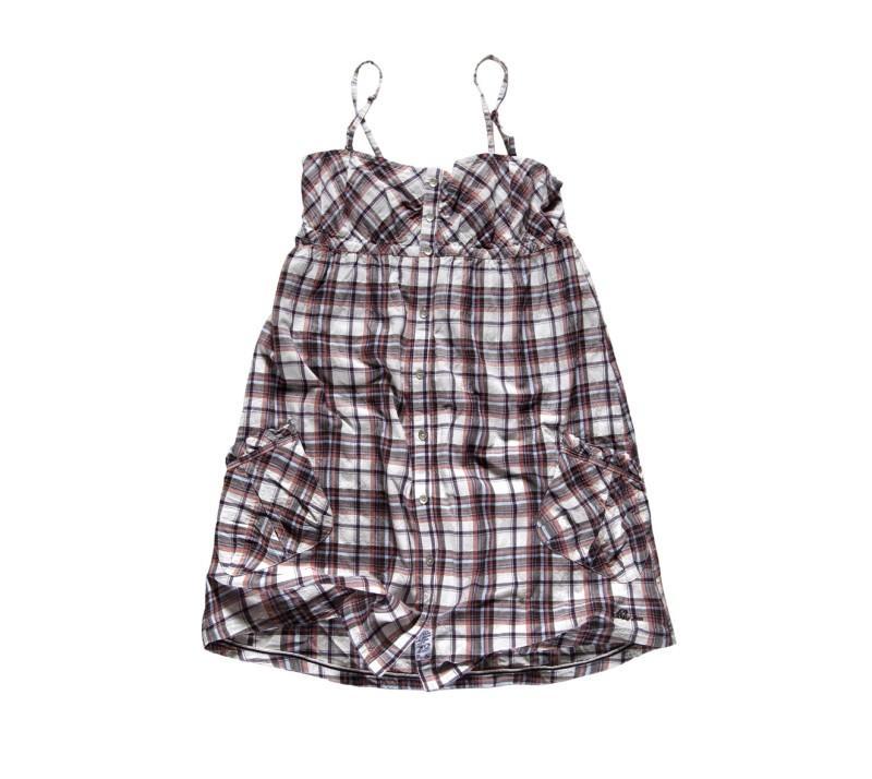 brązowa tunika Big Star w kratkę - moda wiosna/lato