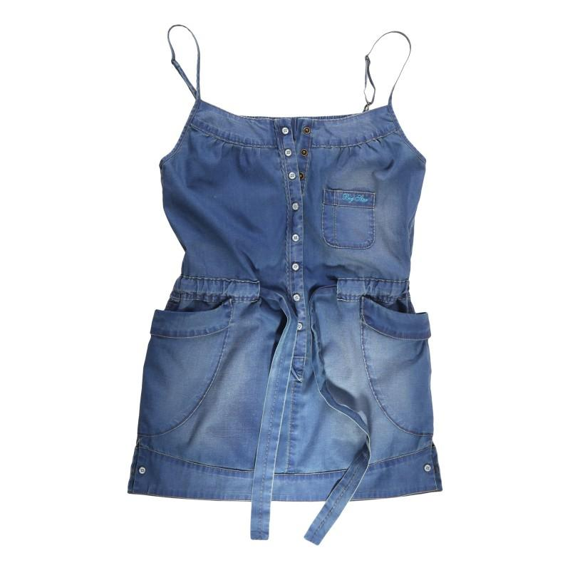 niebieska sukienka Big Star dżinsowa - wiosna-lato 2011