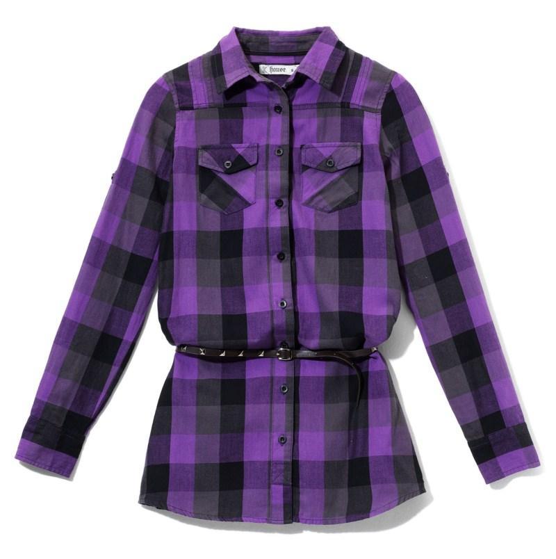 fioletowa koszula House w kratkę - jesień-zima 2010/2011