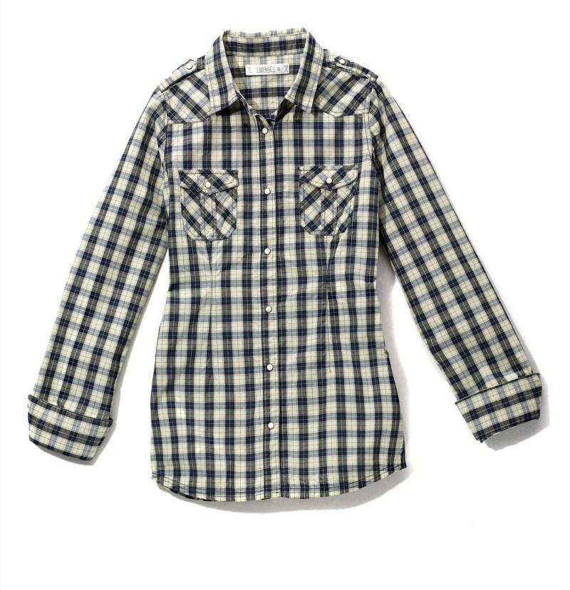 szara bluzka House w kratkę - jesień/zima 2010/2011
