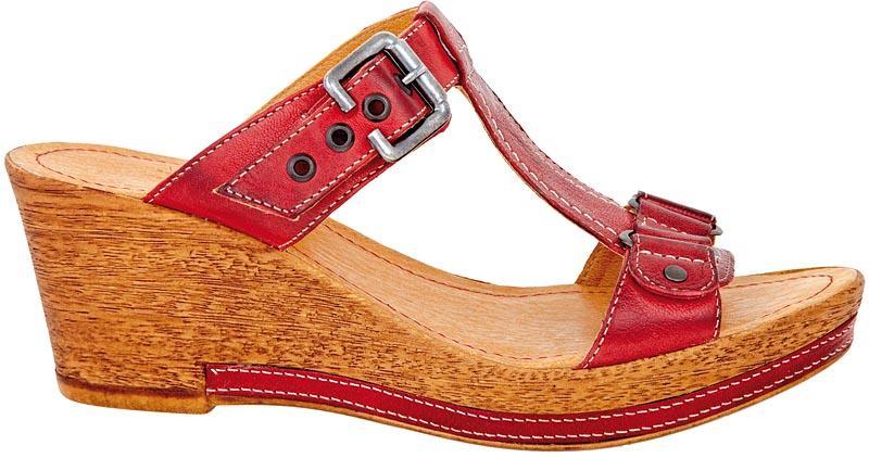 czerwone sandały Wojas - wiosna/lato 2011