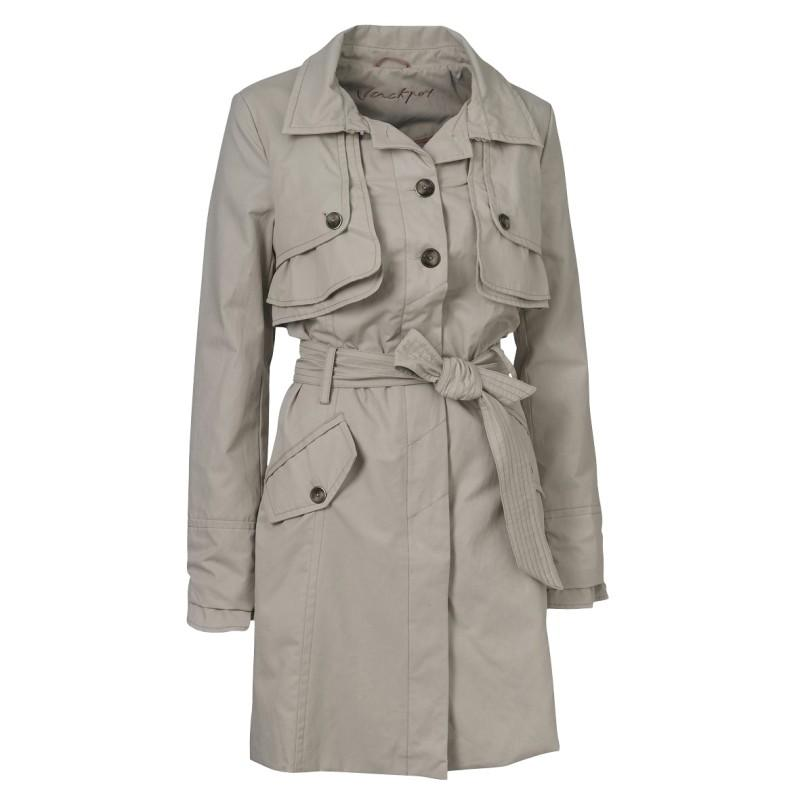 szary płaszcz Jackpot - wiosenna kolekcja