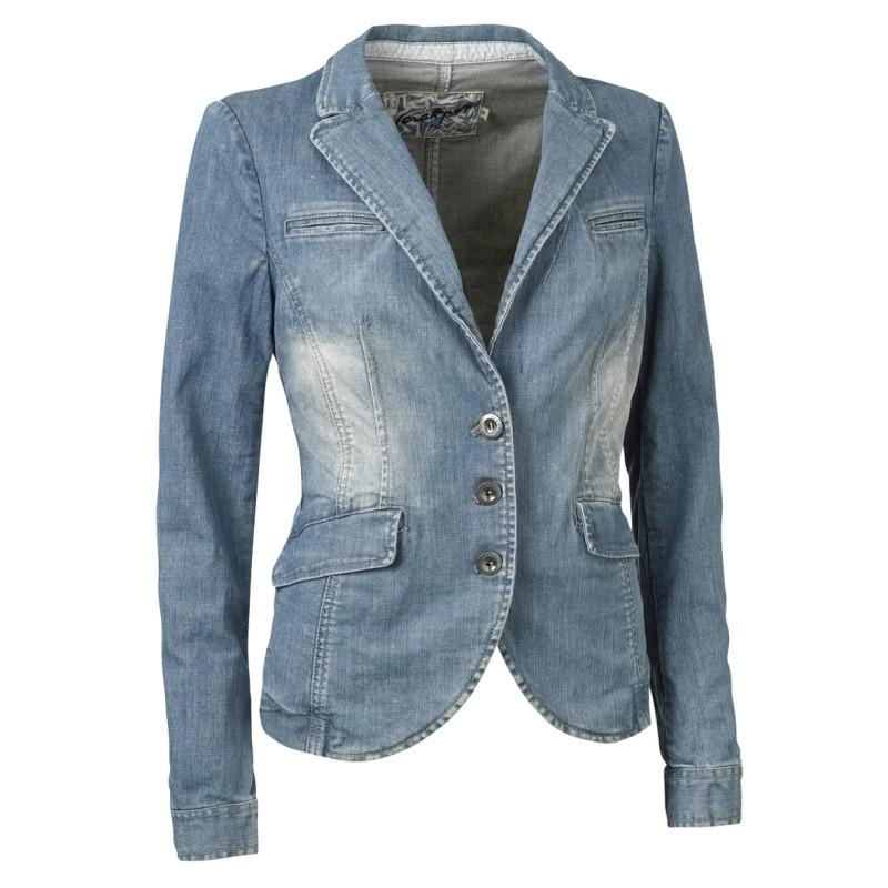 niebieski żakiet Jackpot dżinsowy - moda wiosna/lato