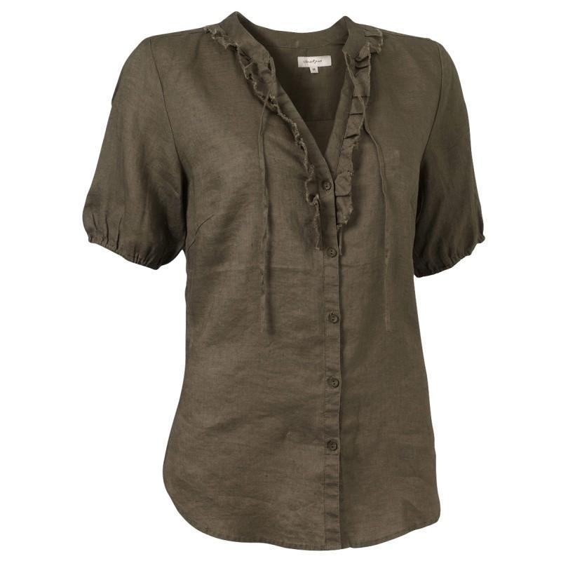 brązowa koszula Jackpot - moda wiosna/lato