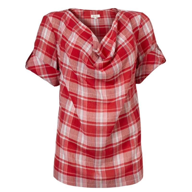 czerwona bluzka Jackpot w kratkę - moda 2011