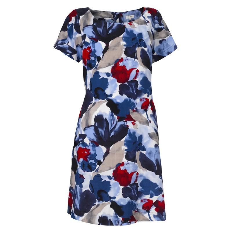 niebieska sukienka Jackpot w kwiaty - lato 2011