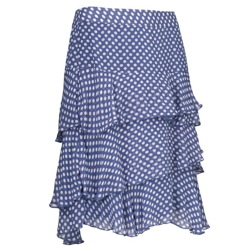 niebieska spódnica Jackpot w kropki - kolekcja letnia