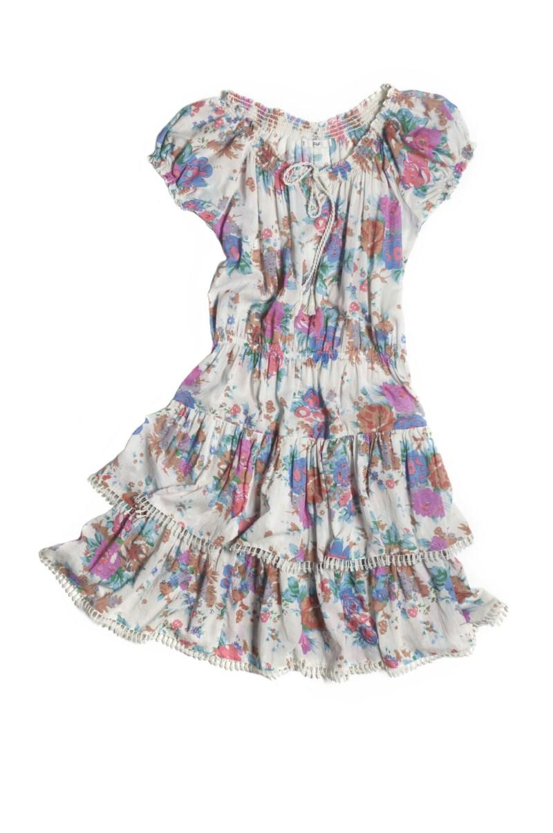 sukienka F&F w kwiaty - z kolekcji wiosna-lato 2011