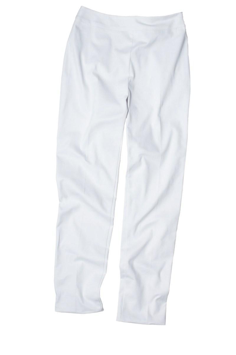 białe spodnie F&F - moda wiosna/lato
