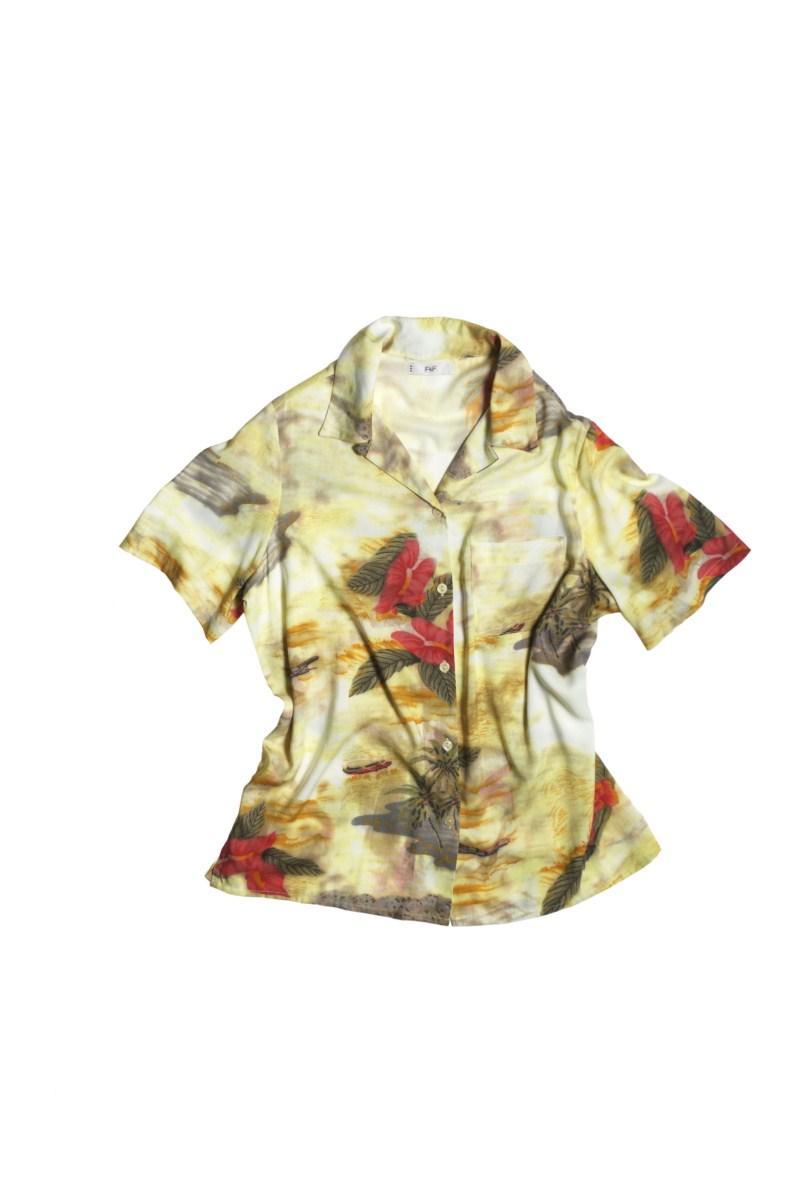 beżowa koszula F&F we wzory - kolekcja letnia