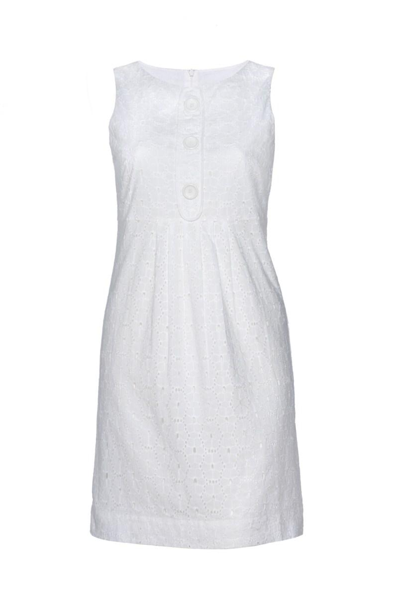 biała sukienka F&F - wiosna/lato 2010