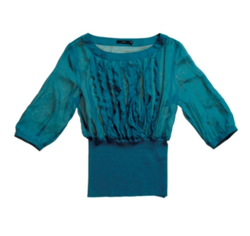 turkusowa bluzka Tatuum - moda zimowa
