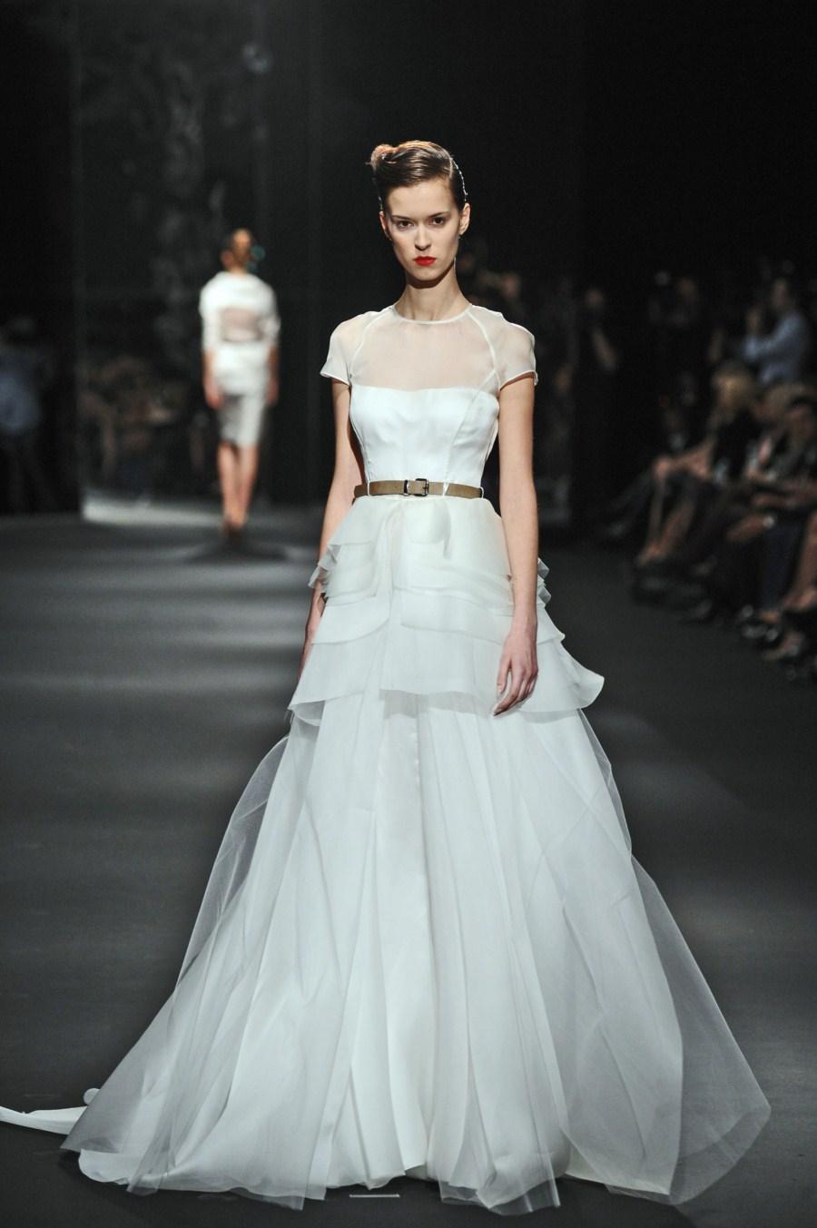 biała sukienka wieczorowa Zień - wiosna/lato 2011