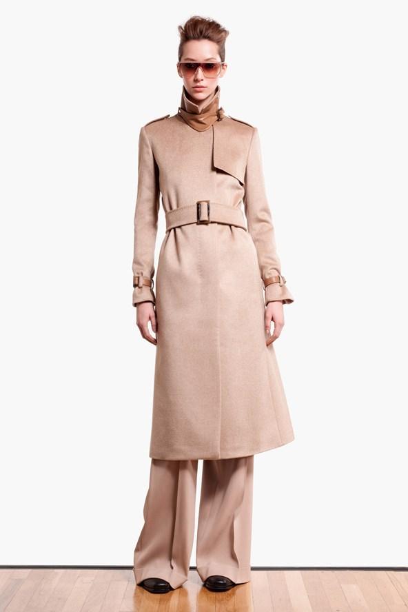 elegancki płaszcz Max Mara w kolorze brązowym - zima 2013/14
