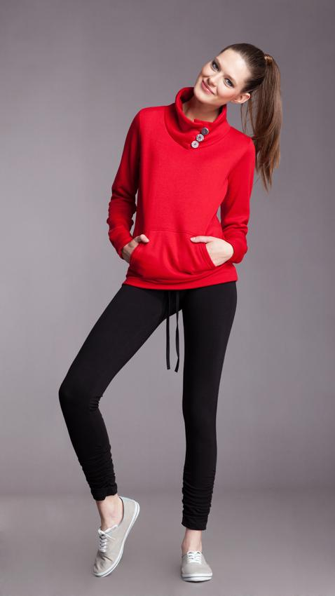 sportowa bluza Moodo w kolorze czerwonym  - moda dla kobiet