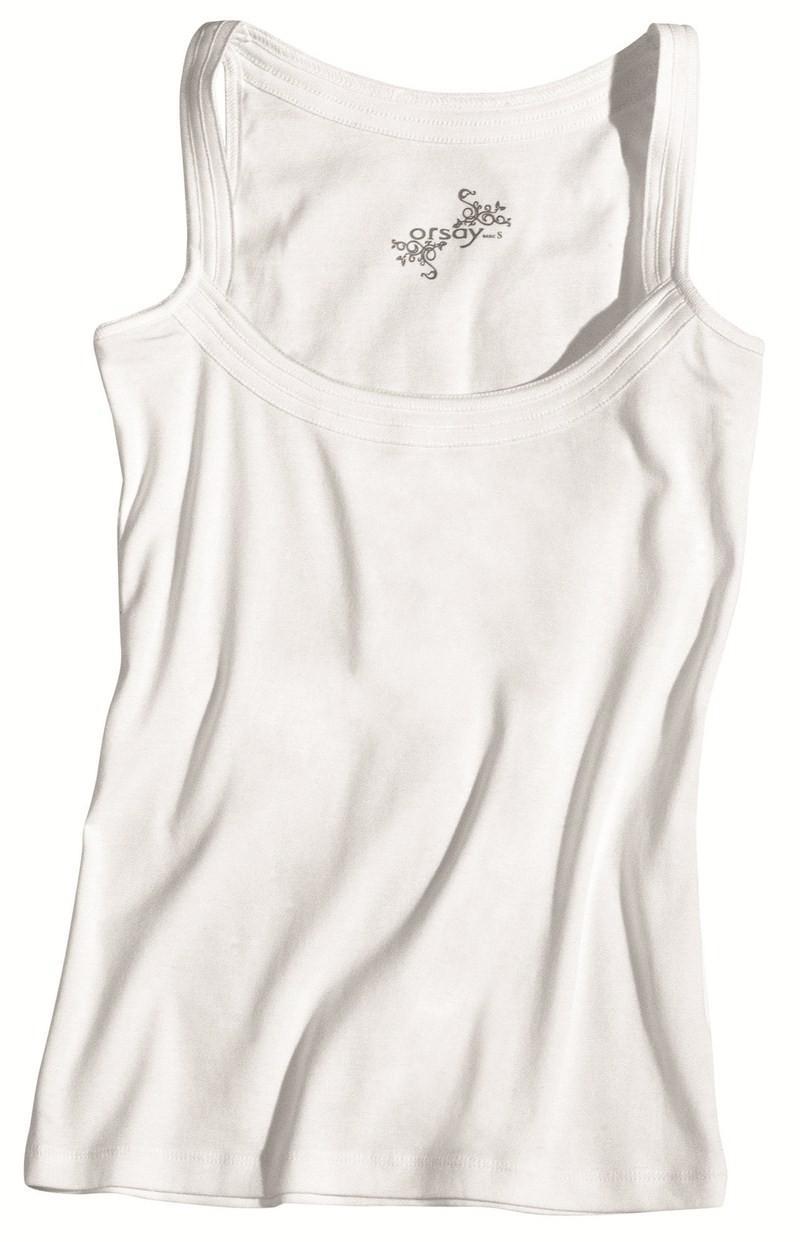 biały top Orsay na ramiączkach - wiosna/lato 2012