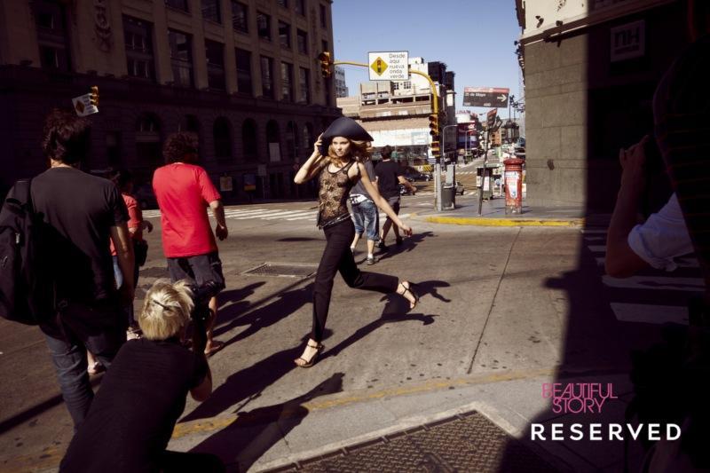 czarne spodnie Reserved - moda 2011