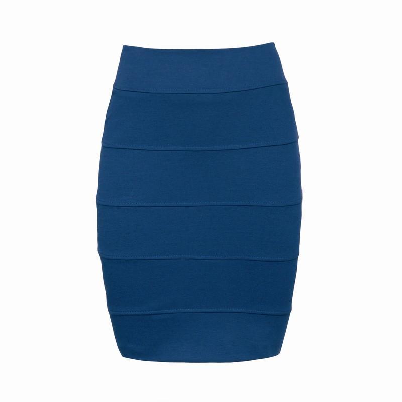 niebieska spódnica Pretty Girl ołówkowa - trendy zimowe