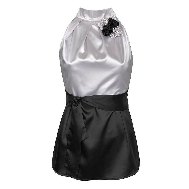 biała bluzka Pretty Girl satynowa - moda 2010