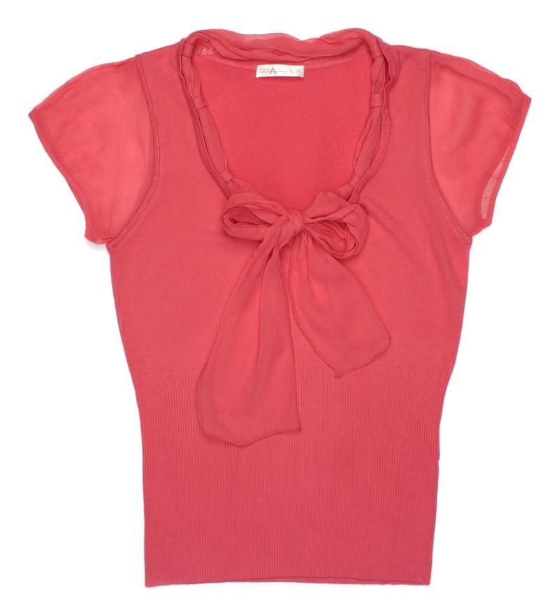 różowa bluzeczka z kokardą TARANKO - wiosna-lato 2011