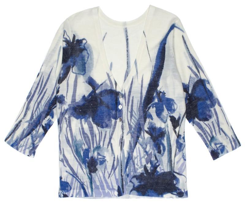 bluzka w niebieskie kwiaty TARANKO - wiosna-lato 2011