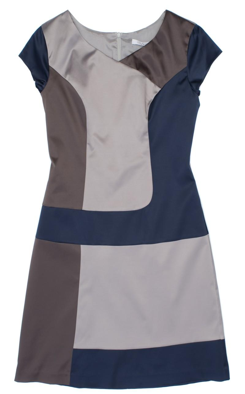 sukienka szarogranatowa TARANKO - wiosna-lato 2011