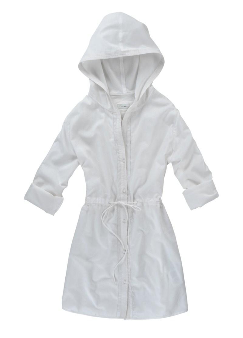 biała tunika Tatuum z kapturem - sezon wiosenno-letni