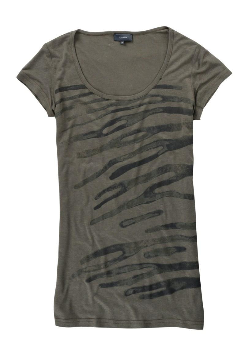 khaki t-shirt Tatuum - trendy wiosna-lato