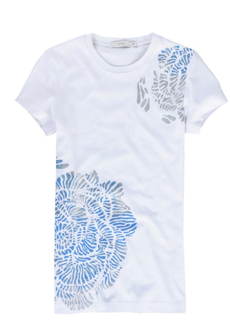 biała koszulka Tatuum w kwiaty - moda 2011