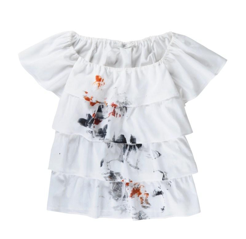 biała bluzka Tatuum z falbanami - wiosna/lato 2011