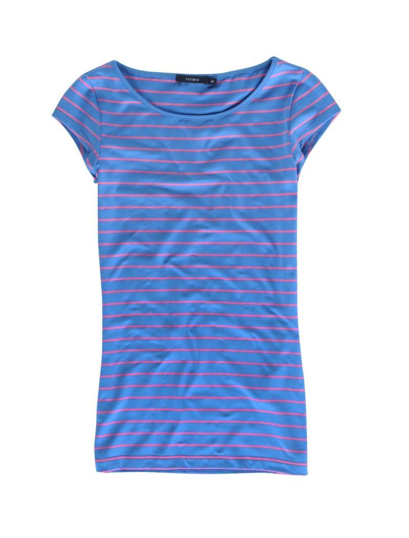 niebieska koszulka Tatuum w paski - moda wiosna/lato