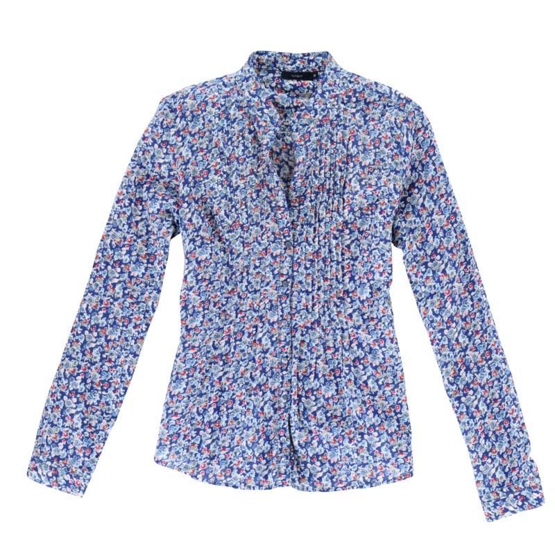 niebieska koszula Tatuum w kwiaty - moda 2011