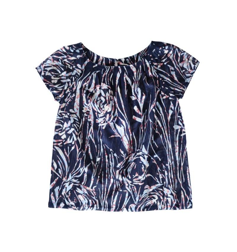 granatowa bluzka Tatuum we wzory - wiosna-lato 2011