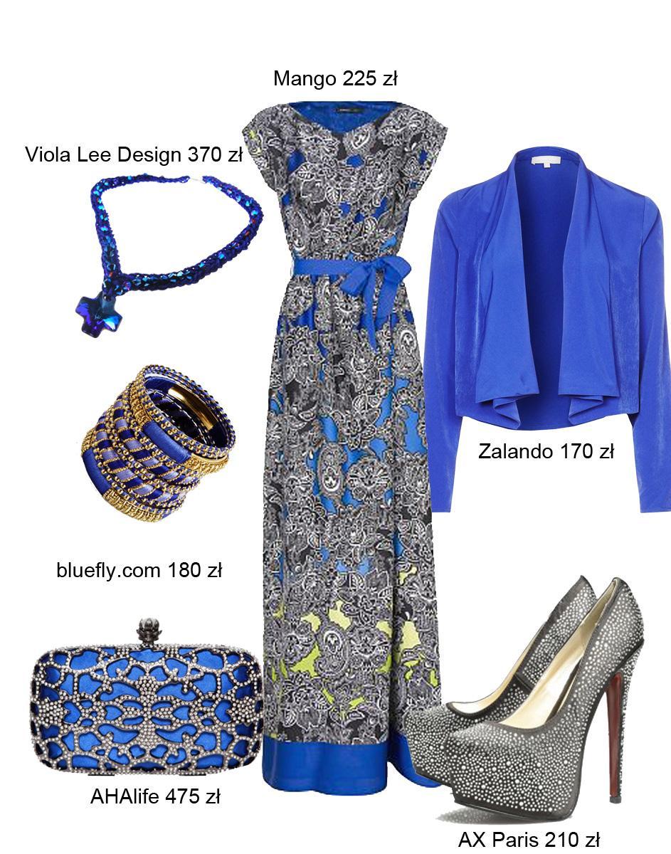 Kolor kobaltowy - 5 zestawów ubrań