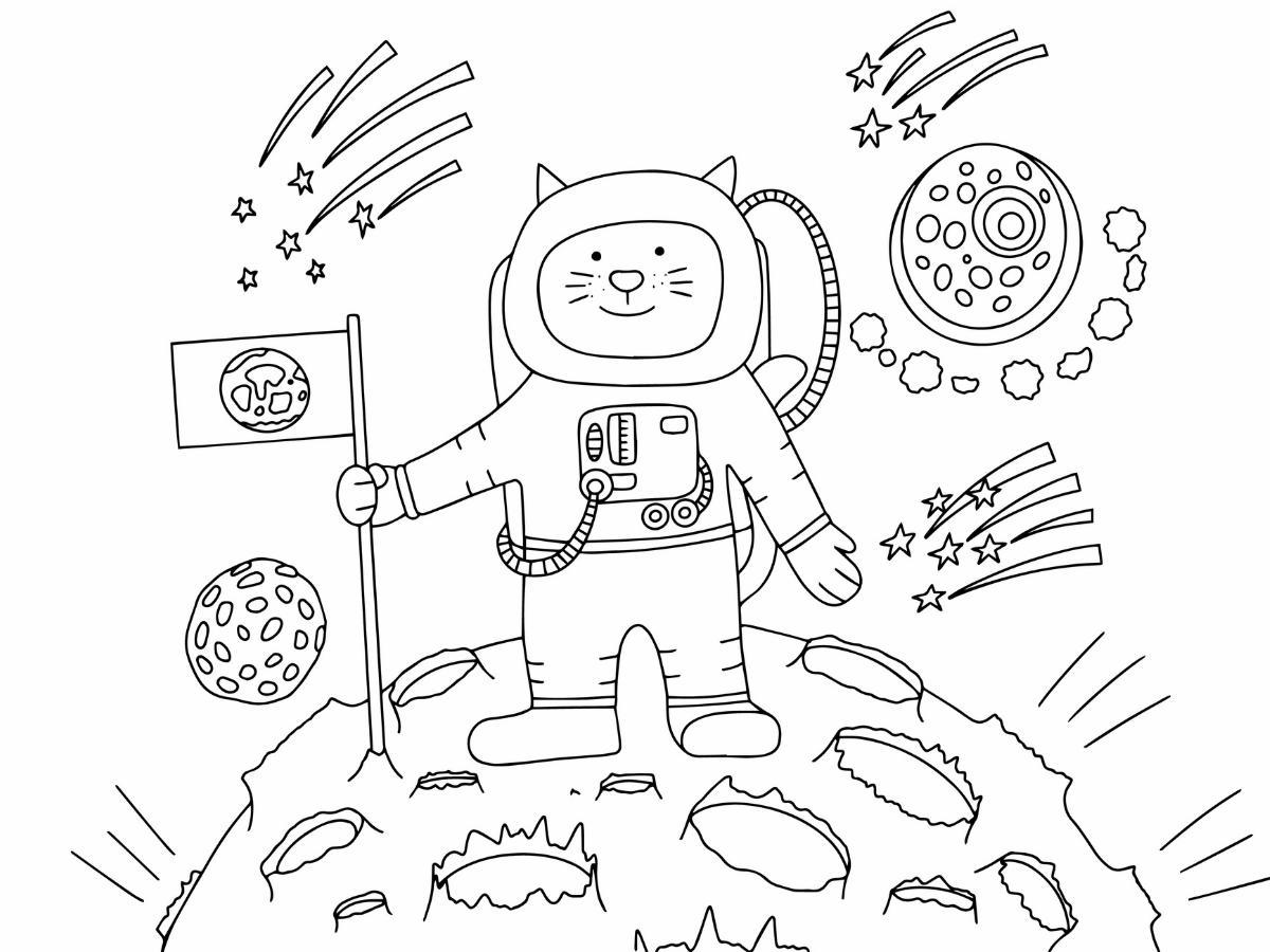 Kolorowakna lądowanie na Marsie