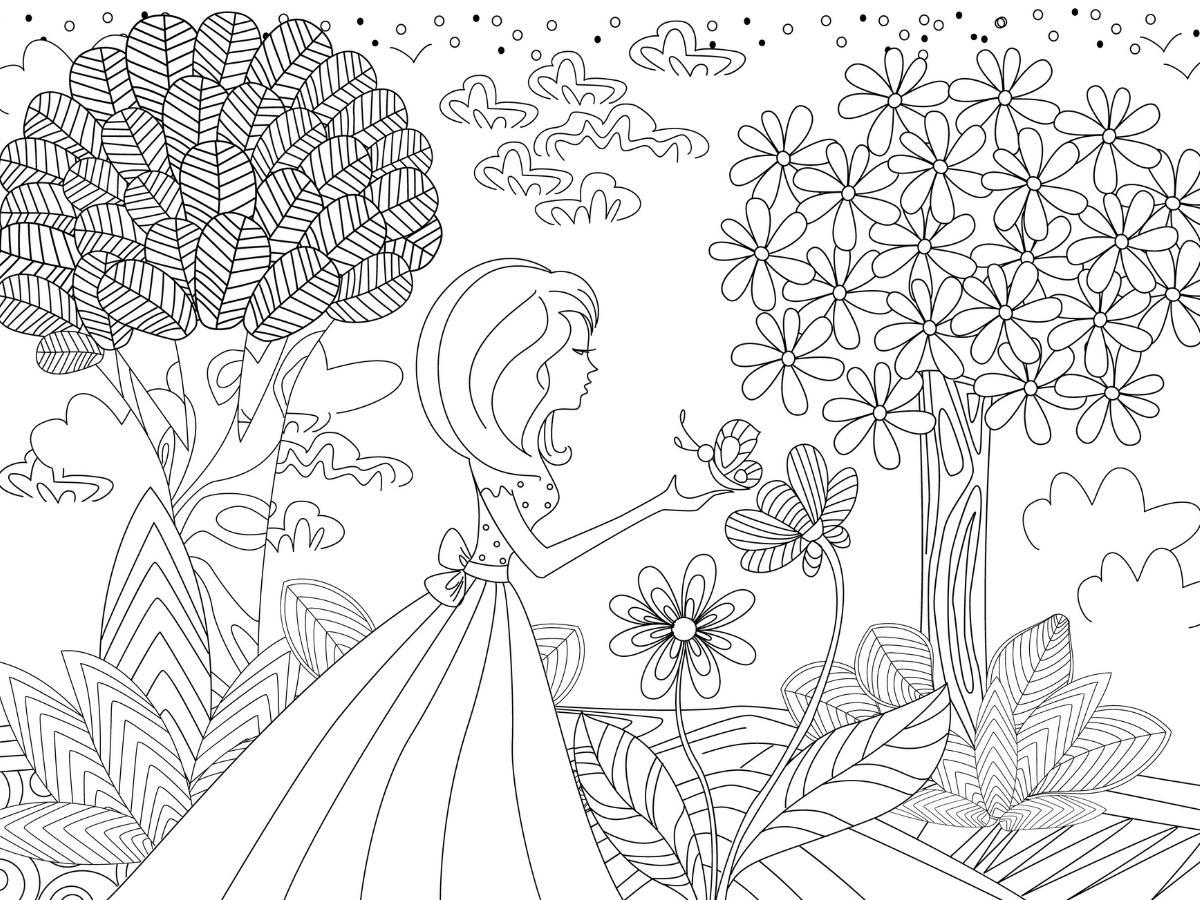Kolorowanka księżniczka w lesie