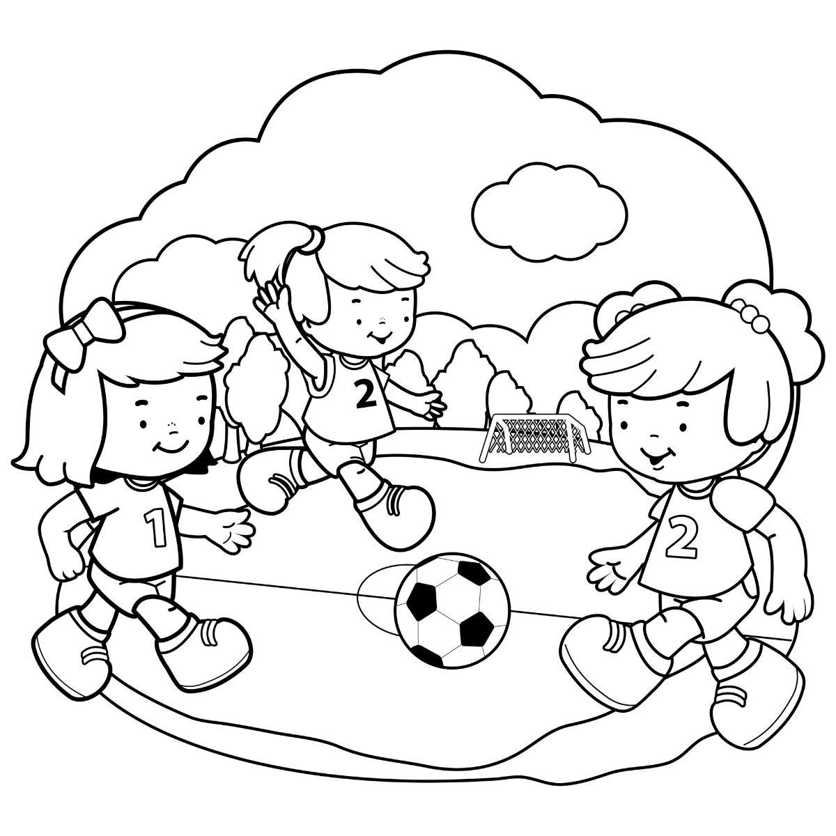 Kolorowanka gra w piłkę