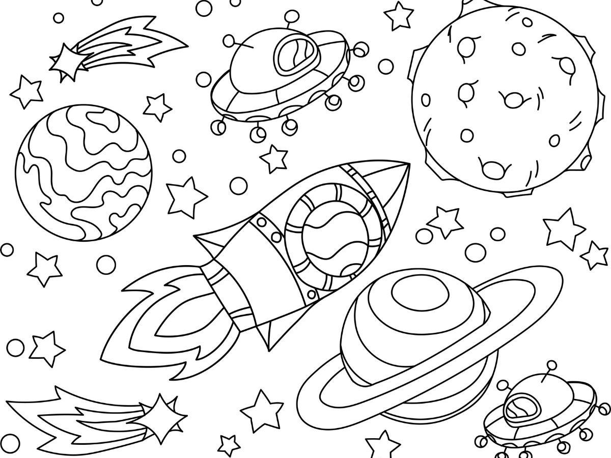 Kolorowanka kosmos dla dzieci